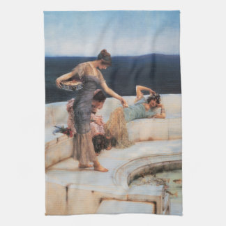 Silberne Lieblinge durch Lawrence Alma-Tadema Geschirrtuch