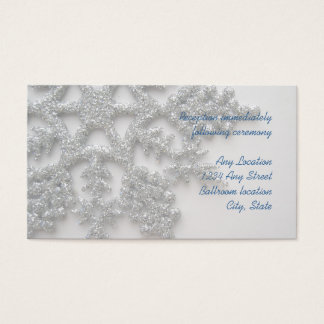 Silberne Schneeflocke-Hochzeits-Empfangs-Karte Visitenkarte