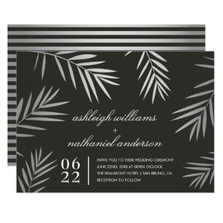 Silberne tropische Hochzeit in Urlaubsort der 12,7 X 17,8 Cm Einladungskarte