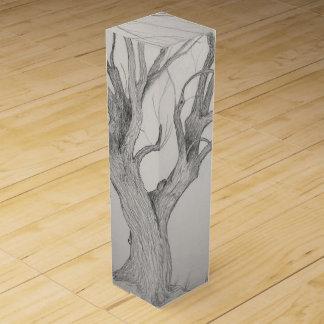 Silberner Ahornbaum Weinbox