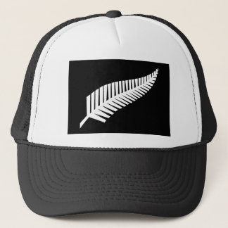 Silberner Farn-Flagge von Neuseeland Truckerkappe