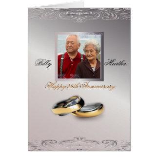 Silberner Jahrestag Karte
