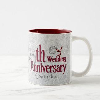 Silberner Jahrestag Zweifarbige Tasse