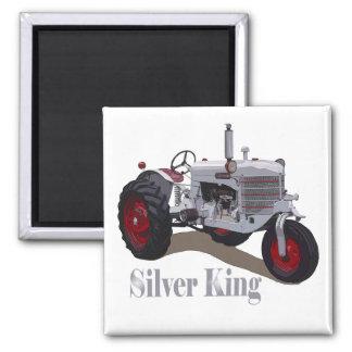 Silberner König Tractor Kühlschrankmagnete