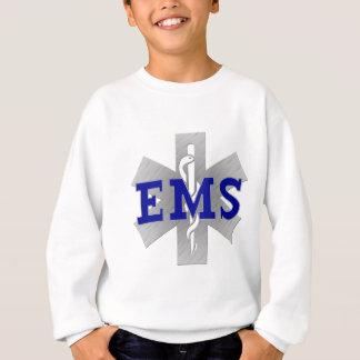 Silberner Stern des Lebens mit blauem EMS Sweatshirt
