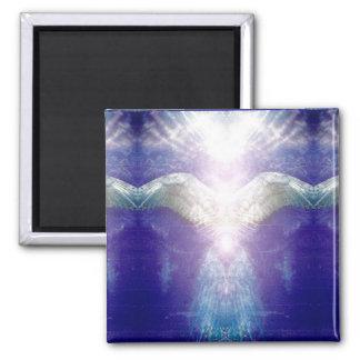 Silberner violetter Engel Quadratischer Magnet