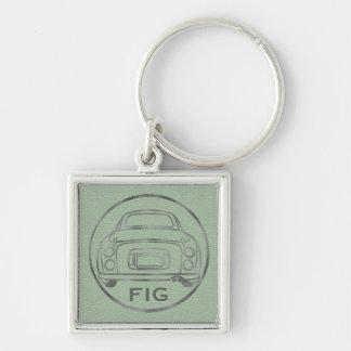 Silbernes Figaro-Grünes Leder Nissans mit Schlüsselanhänger