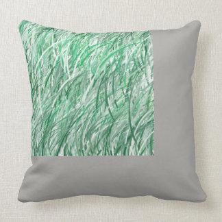 Silbernes Gras Kissen
