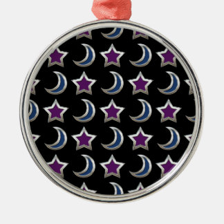 Silbernes lila blaue Stern-und Silbernes Ornament