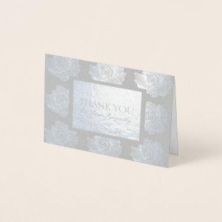 Silbernes Rosen-Tapisserie-Beileid danken Ihnen, Folienkarte