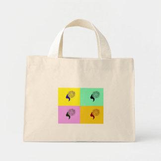 Silhouetette Porträt-Taschen-Tasche Mini Stoffbeutel