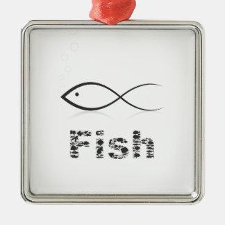 Silhouette fish2 silbernes ornament
