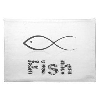 Silhouette fish2 stofftischset
