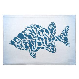 Silhouettefische Stofftischset