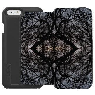 Silhouettiertes Baummuster und blauer Himmel Incipio Watson™ iPhone 6 Geldbörsen Hülle
