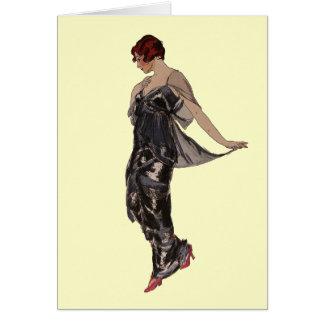 Silk Abendskleid 1914 Karte