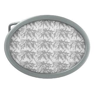 Silverline glänzendes chinesisches Ostmuster Ovale Gürtelschnallen