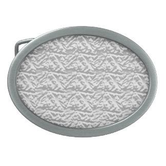 Silverline glänzendes Vintages Muster Ovale Gürtelschnallen