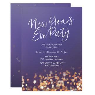 Silvester-Party funkelnd Einladung