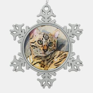 SIMON IM LICHT SCHNEEFLOCKEN Zinn-Ornament