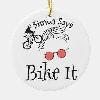 Simon sagt Fahrrad es Keramik Ornament
