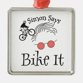 Simon sagt Fahrrad es Silbernes Ornament