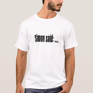 Simon sagte Spiel Schwarzes T-Shirt