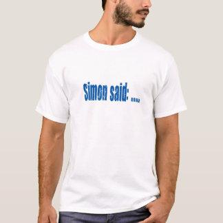 Simon sagte Spielblau T-Shirt