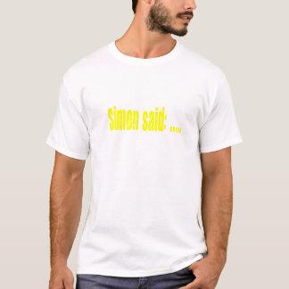 Simon sagte Spielgelb T-Shirt