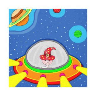 Simon und sein Raumschiff Leinwanddruck