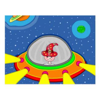 Simon und sein Raumschiff Postkarte