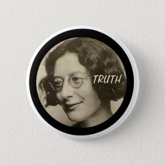 Simone Weil Runder Button 5,1 Cm