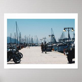Simons Stadthafen-Pier Yachts Plakat