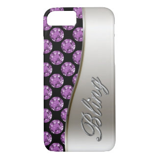 Simuliertes Rhinestone-Juwel Bling iPhone 8/7 Hülle