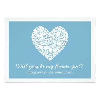 Sind Sie mein Blumen-Mädchen? Blaue Herz-Karte 12,7 X 17,8 Cm Einladungskarte