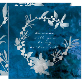 Sind Sie mein Brautjungfern-blauer grauer Quadratische 13,3 Cm Einladungskarte