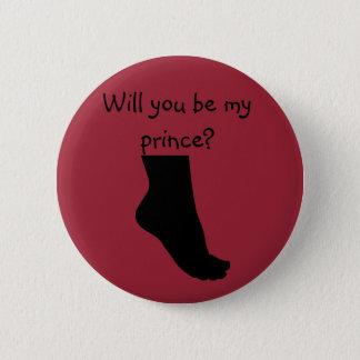 sind Sie mein roter Knopf Prinzen Runder Button 5,1 Cm
