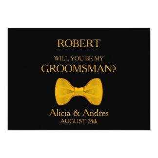 Sind Sie mein Trauzeuge? mit Goldbogen 12,7 X 17,8 Cm Einladungskarte