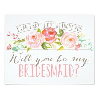 Sind Sie meine Brautjungfer der Brautjungfern-| 10,8 X 14 Cm Einladungskarte