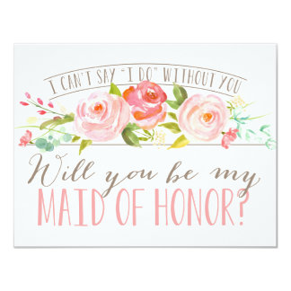Sind Sie meine Brautjungfer der Trauzeugin-| 10,8 X 14 Cm Einladungskarte