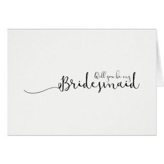 Sind Sie meine Brautjungfer Karte