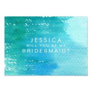 Sind Sie meine Brautjungfern-Aquarell-Wäsche 12,7 X 17,8 Cm Einladungskarte