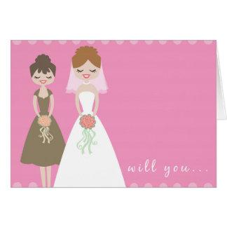 Sind Sie meine Brautjungfern-Gruß-Karte? Karte