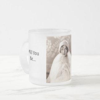Sind Sie meine Brautjungfern-Kaffee-Tasse Mattglastasse