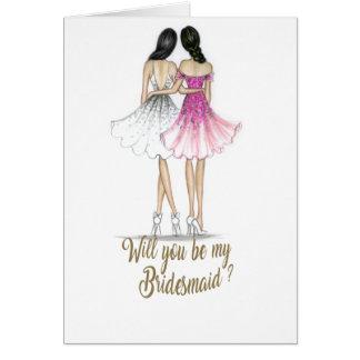 Sind Sie meine Brautjungfern-Karte Karte