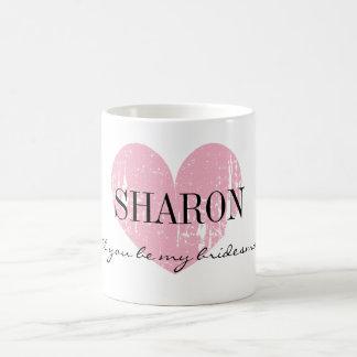 Sind Sie meine Brautjungfern-Tasse mit rustikalem Tasse