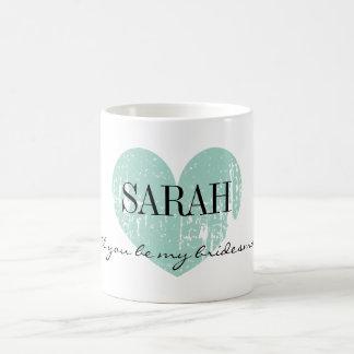 Sind Sie meine Brautjungfern-Tasse mit Vintagem Tasse