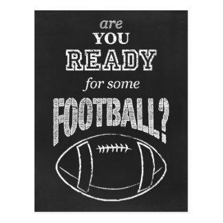 sind Sie zu etwas Fußball bereit? Postkarte