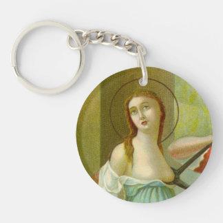 Single-Bild-St. Agatha (M 003) Schlüsselanhänger