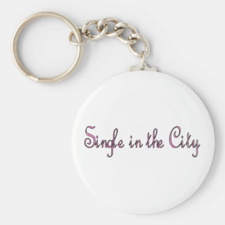 Single in der Stadt Standard Runder Schlüsselanhänger